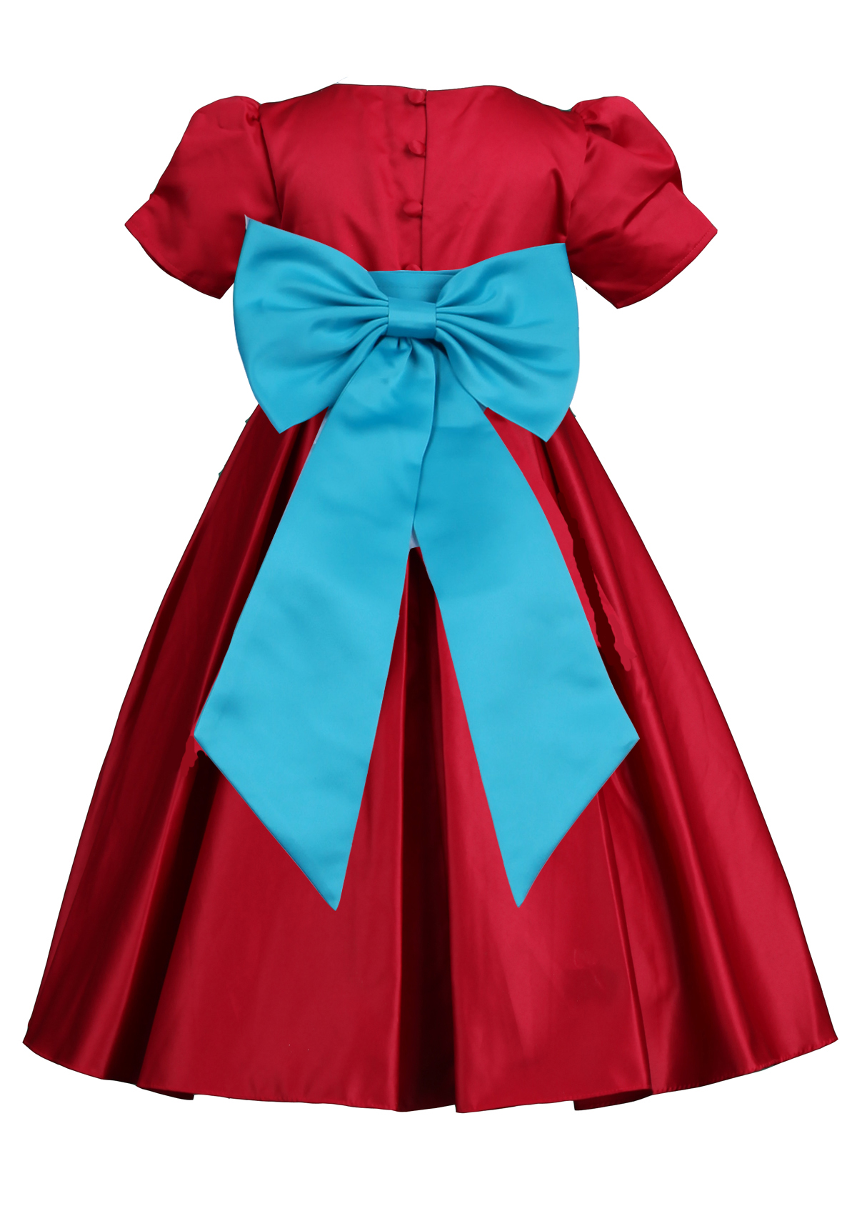 147a41211e6 Apple Red Pleated Flower Girl Dress